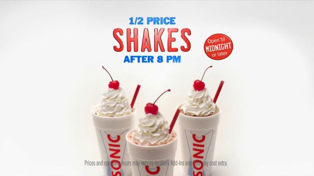 Sonic Drive-In TV Spot, 'Half-Price Shakes After 8 PM' - Screenshot 8