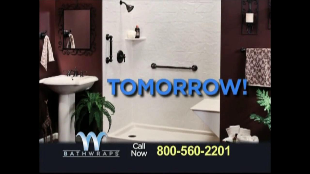 Bathwraps TV mercial For Redesign Your Bathroom iSpot