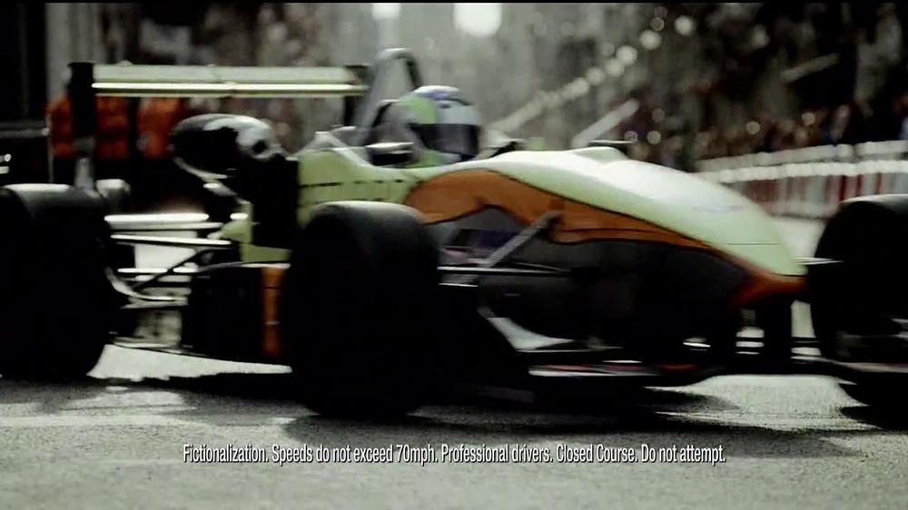Infiniti Race Car Commercial Actress