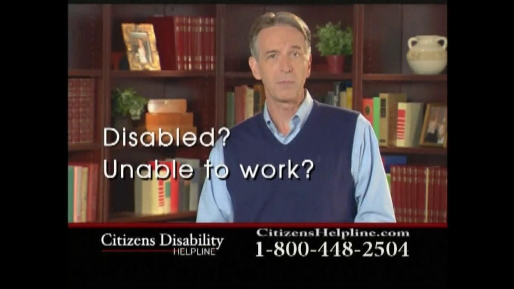 Citizens Disability Helpline TV Spot For Disability - Screenshot 1