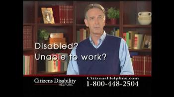 Citizens Disability Helpline TV Spot For Disability - Thumbnail 1