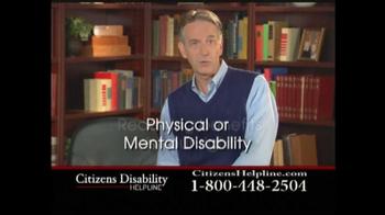 Citizens Disability Helpline TV Spot For Disability - Thumbnail 4