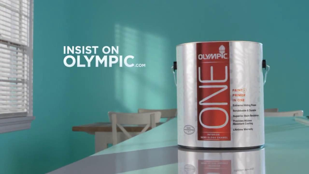 Olympic One Tv Commercial 39 Blue Paint And Primer In One