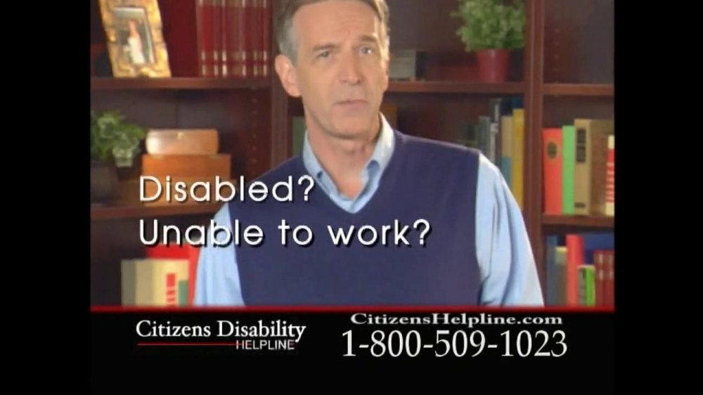 Citizens Disability Helpline TV Spot For Receive Benefits - Screenshot 2