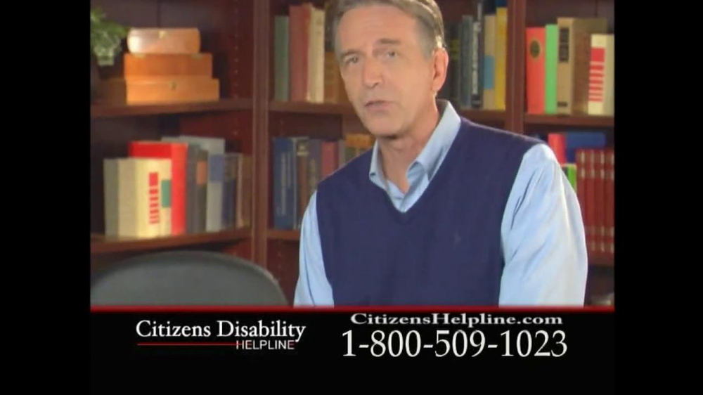 Citizens Disability Helpline TV Spot For Receive Benefits - Screenshot 3