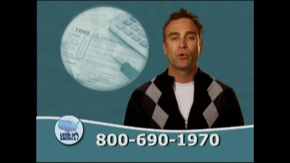 Listen Up America TV Spot, 'Tax Relief Hotline' - Screenshot 2