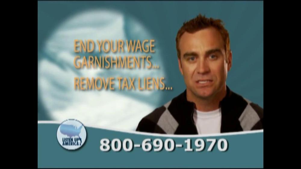 Listen Up America TV Spot, 'Tax Relief Hotline' - Screenshot 5