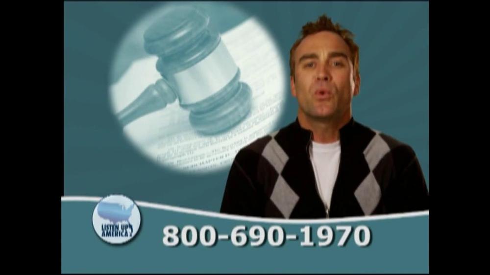 Listen Up America TV Spot, 'Tax Relief Hotline' - Screenshot 9