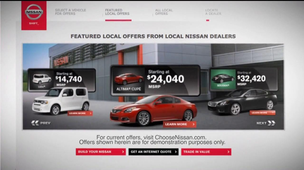 Nissan TV Spot For Choosenissan.com - Screenshot 2