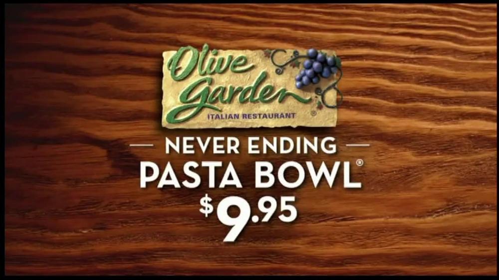 Olive Garden Never Ending Pasta Bowl Tv Commercial