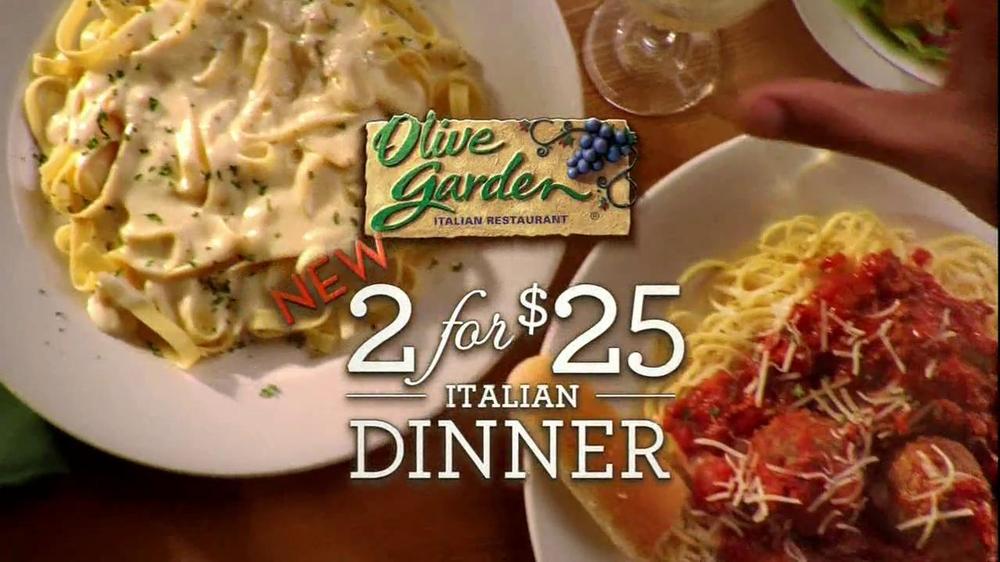 Olive Garden Tv Commercial For 2 For 25 Italian Dinner