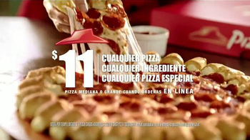 Pizza Hut Cheesy Bites Pizza TV Spot [Spanish]