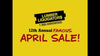 Lumber Liquidators Annual April Flooring Sale TV Spot, 'Famous Event'