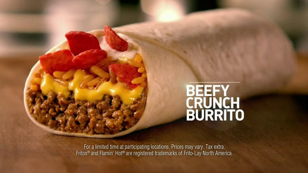Taco Bell Beefy Crunch Burrito TV Spot   Watching the Time  Song by    Taco Bell Beefy Crunch Burrito