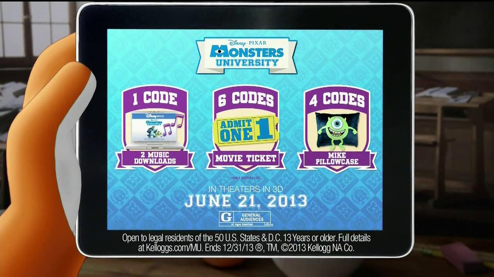 Kellogg's Cereal TV Spot, 'Monsters University' - Screenshot 7