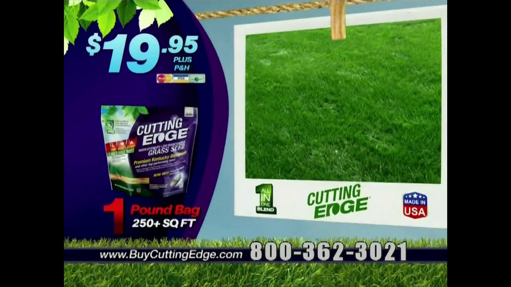 Cutting Edge Grass Seed TV Spot - Screenshot 10