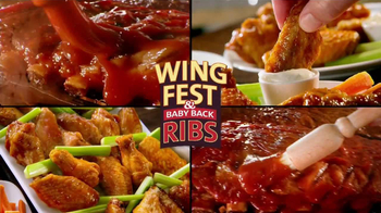 Golden Corral TV Spot, 'Wing Fest & Baby Back Ribs'