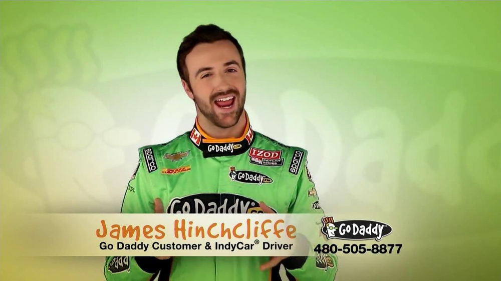 Go Daddy TV Spot, 'Sexy Side' Feat. James Hinchcliffe - Screenshot 2