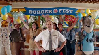 Burger King Bacon Cheddar Stuffed Burger TV Spot, 'BurgerFest'