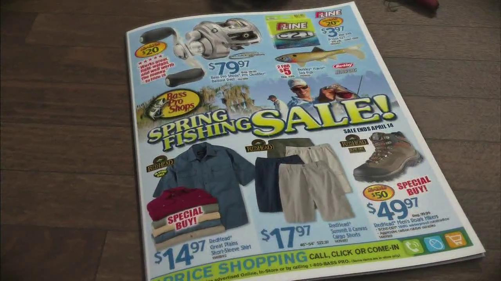 Bass pro shops spring fishing sale tv commercial 39 p line for Bass pro monster fish