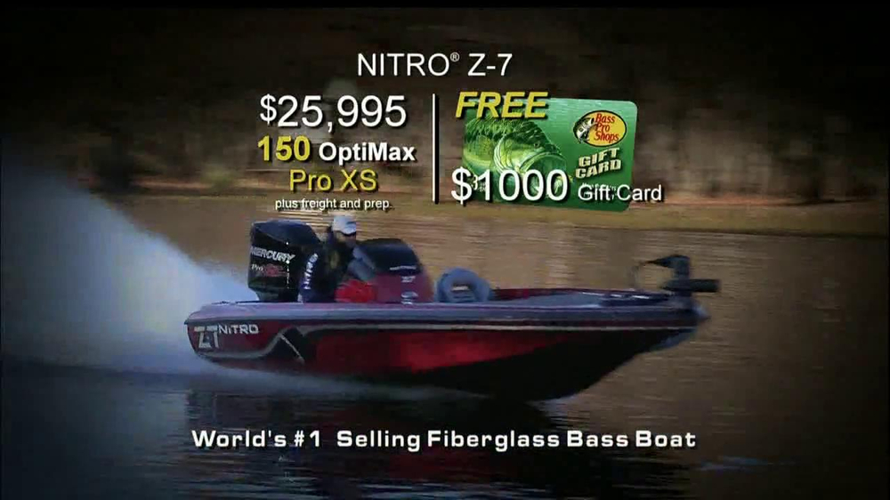 Bass pro shops spring fishing sale tv commercial 39 nitro z for Bass pro monster fish