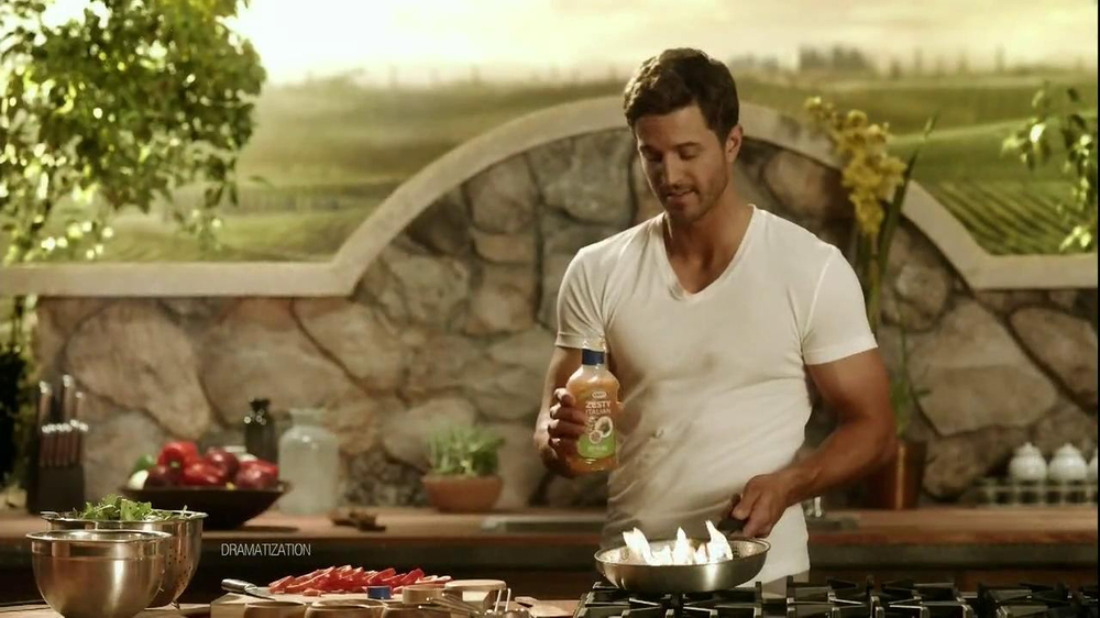 Kraft Zesty Italian Anything Dressing TV Spot, 'Burning Shirt' - Screenshot 7