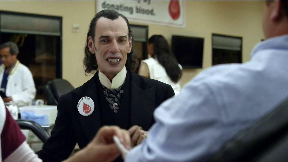 GEICO TV Spot, 'Dracula at a Blood Drive' - Screenshot 6