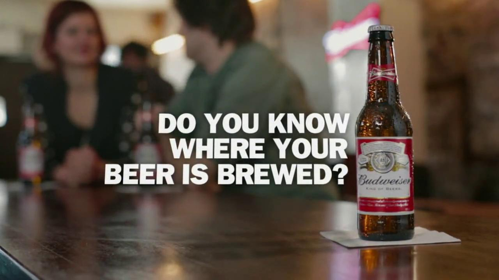 Budweiser TV Spot, 'Where Your Beer is Brewed' - Screenshot 1
