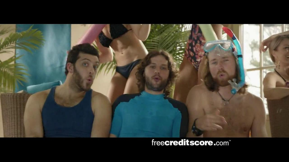 FreeCreditScore.com TV Spot, 'Pool Party' - Screenshot 1