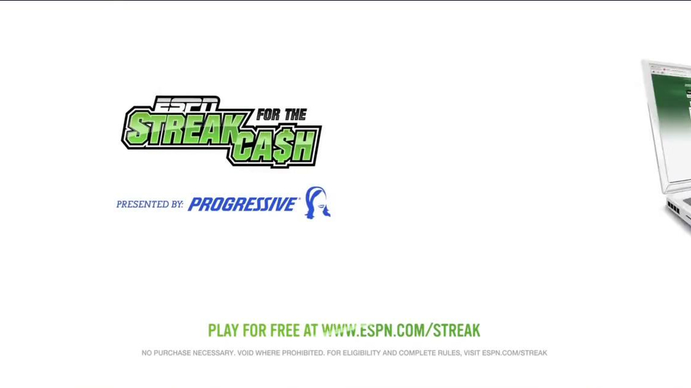 Progressive TV Spot, 'ESPN Streak for the Cash' - Screenshot 10