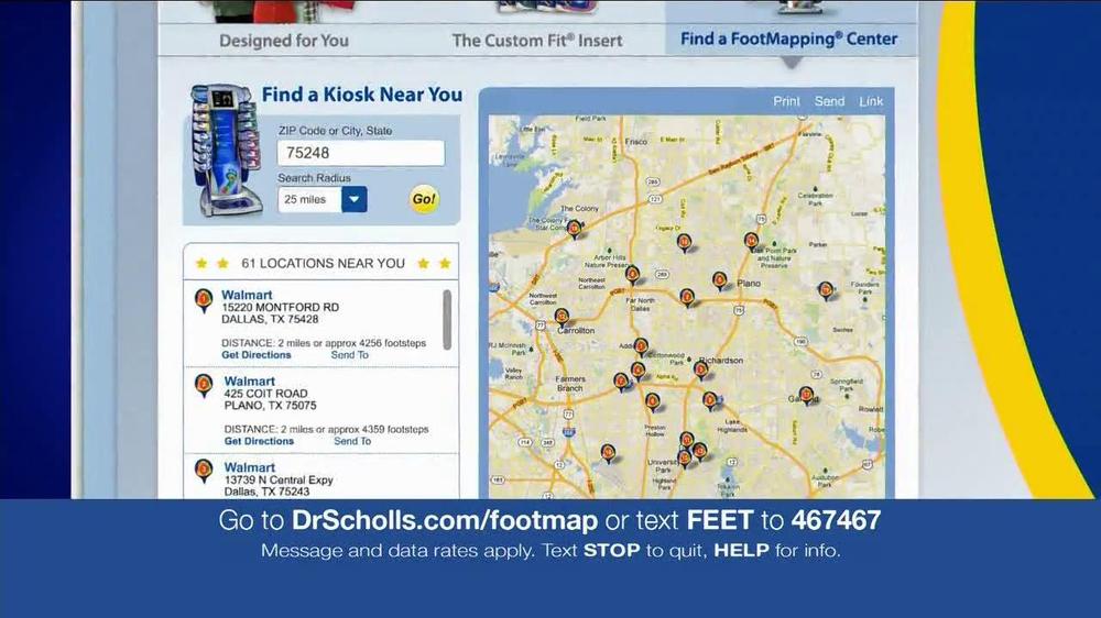 dr scholls foot mapping machine