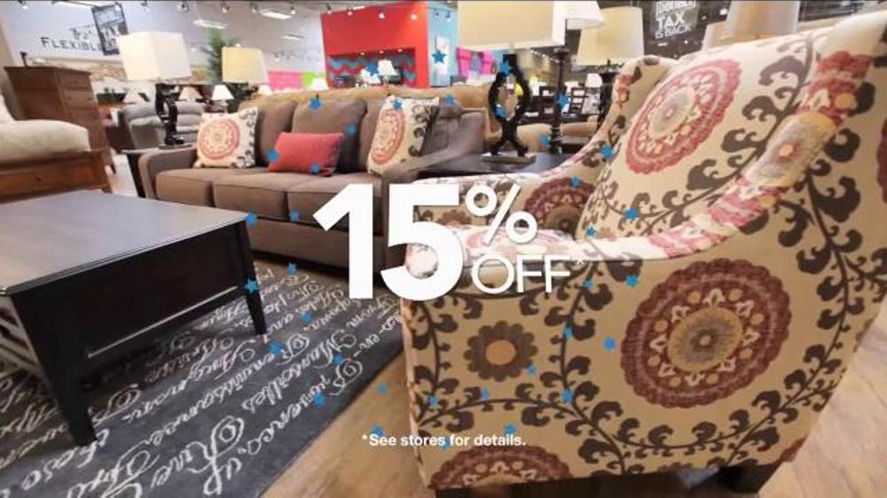 Ashley furniture homestore tv commercial 39 no interest for Furniture 0 interest