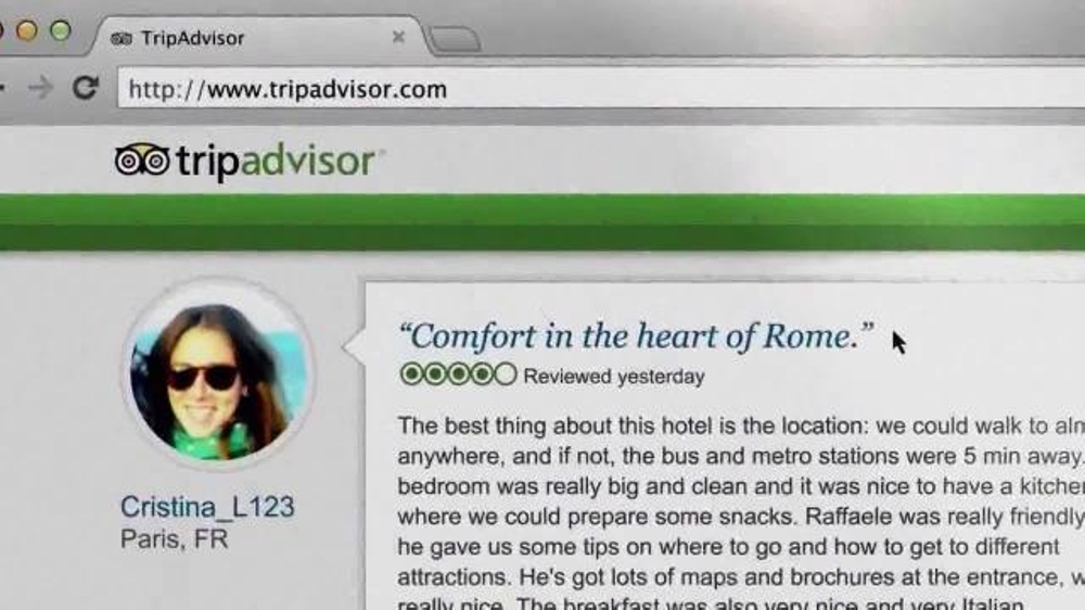 Trip Advisor TV Spot, 'Don't Just Visit Rome' - Screenshot 10