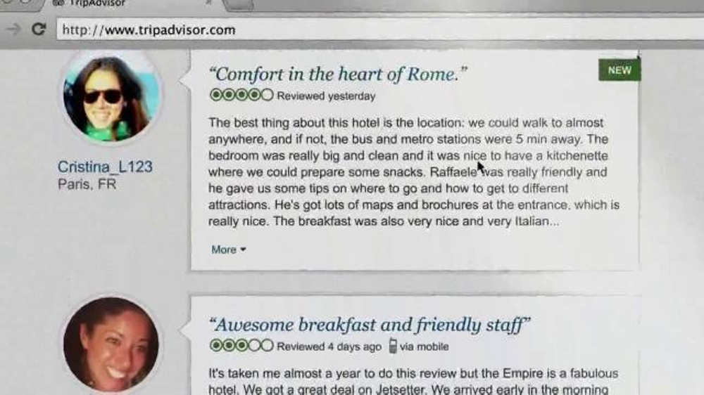 Trip Advisor TV Spot, 'Don't Just Visit Rome' - Screenshot 9