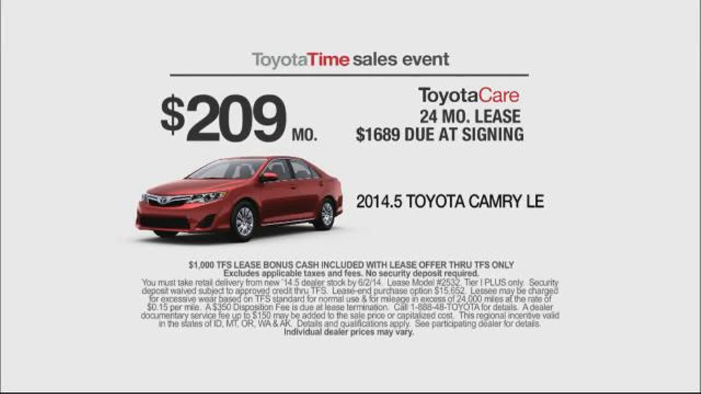 Toyota Time Sales Event TV Spot, 'Leases' - iSpot.tv