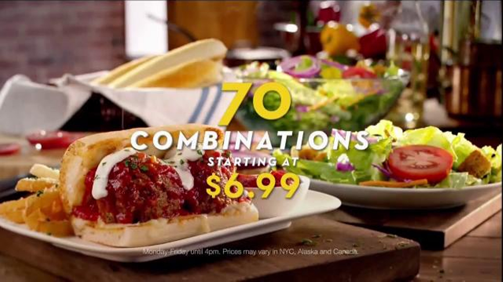 olive garden pronto lunch tv commercial 39 70 lunch combinations 39