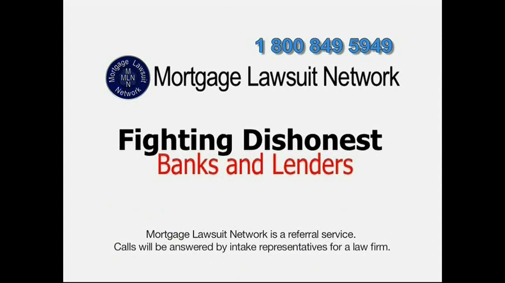 Mortgage Lawsuit Network TV Spot - Screenshot 3