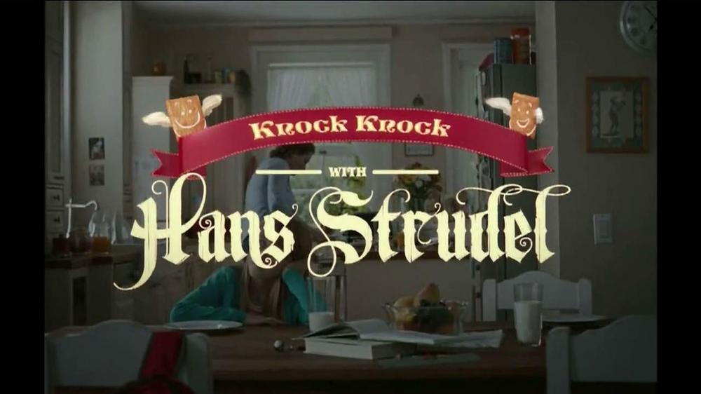 Pillsbury Toaster Strudel TV Spot, 'Door Kick with Hans Strudel' - Screenshot 1