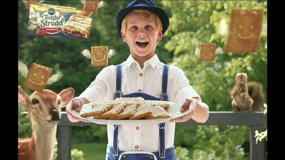 Pillsbury Toaster Strudel TV Spot, 'Door Kick with Hans Strudel' - Screenshot 4