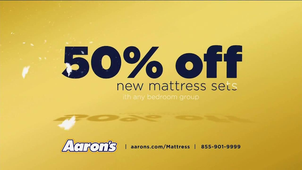 Aaron s TV mercial 50% f New Mattress Set iSpot