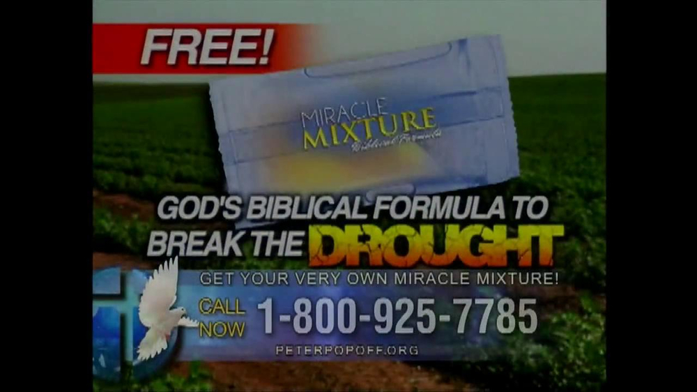 Peter Popoff Ministries Miracle Mixture TV Spot - Screenshot 1