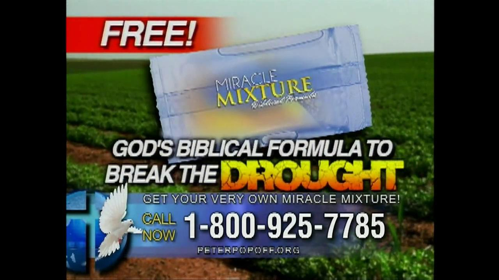 Peter Popoff Ministries Miracle Mixture TV Spot - Screenshot 2