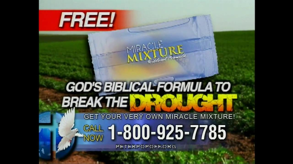 Peter Popoff Ministries Miracle Mixture TV Spot - Screenshot 3