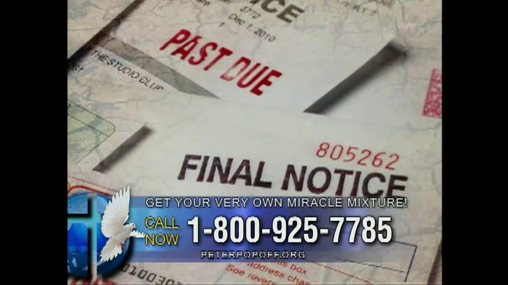 Peter Popoff Ministries Miracle Mixture TV Spot - Screenshot 7