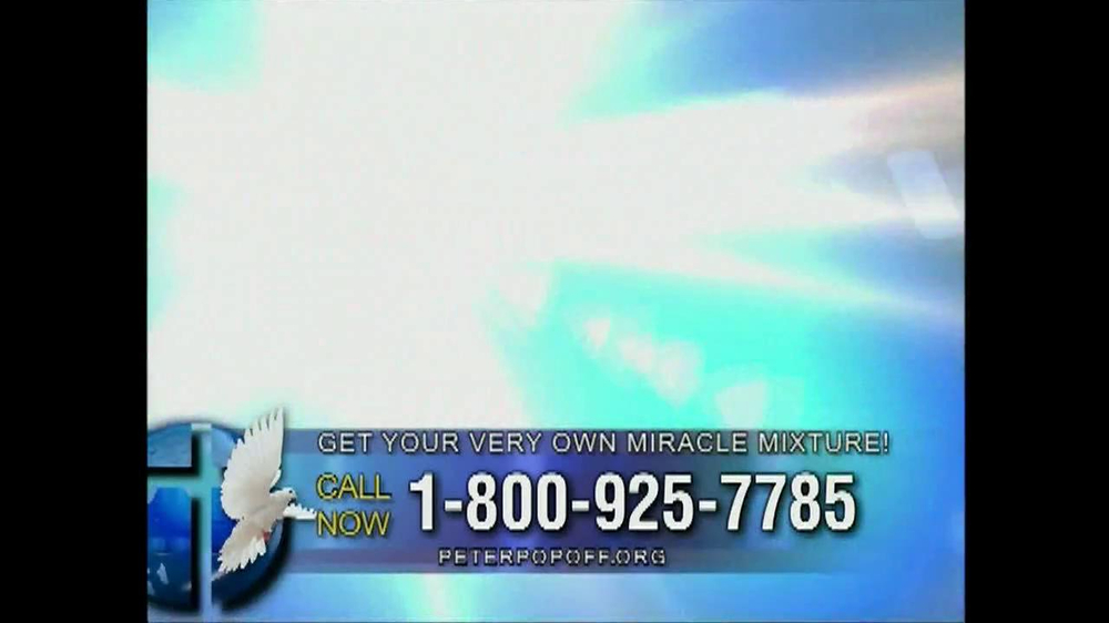 Peter Popoff Ministries Miracle Mixture TV Spot - Screenshot 8