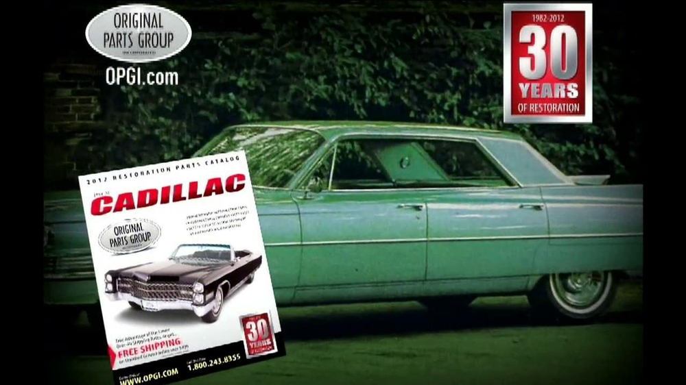 OPGI Original Parts Group Inc TV mercial Cadillac