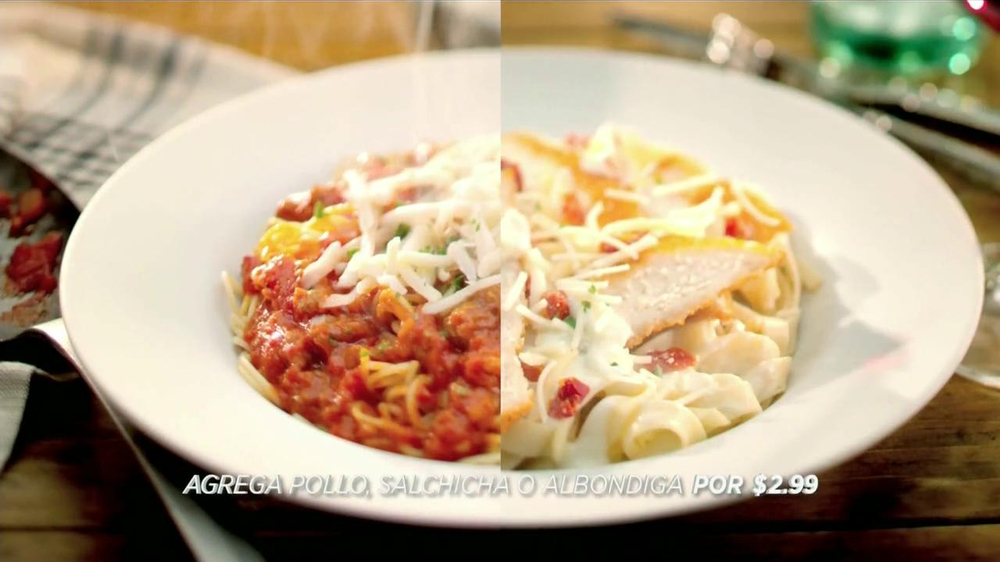 Olive garden never ending pasta bowl tv commercial spanish for Olive garden endless pasta bowl