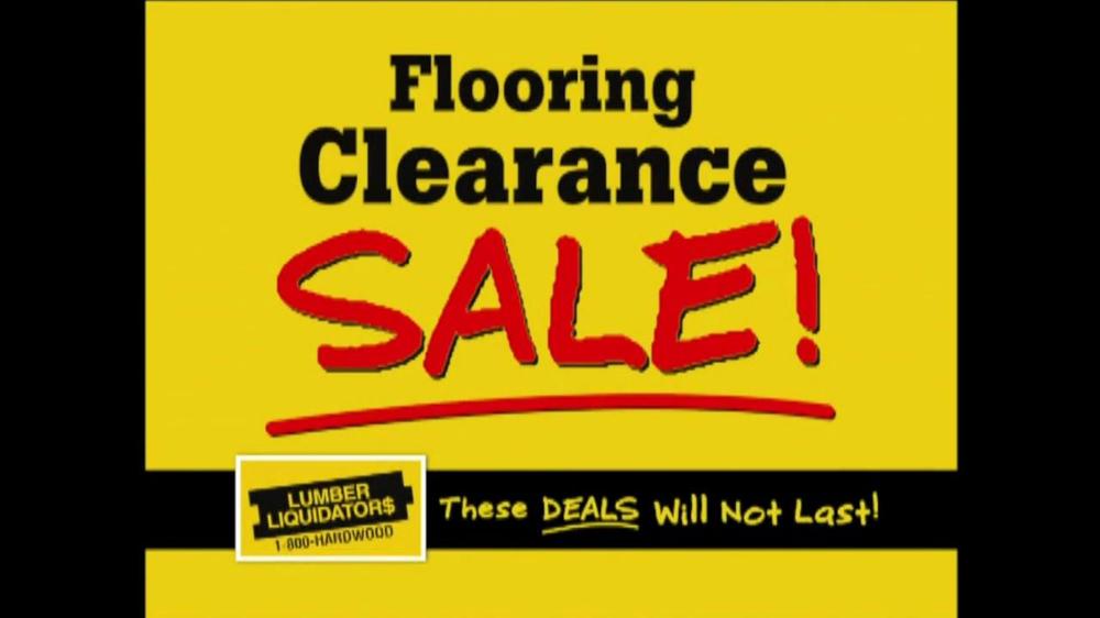 Lumber Liquidators Flooring Clearance Sale TV Commercial ...