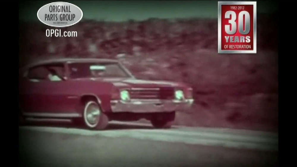 OPGI Original Parts Group Inc TV mercial Chevelle