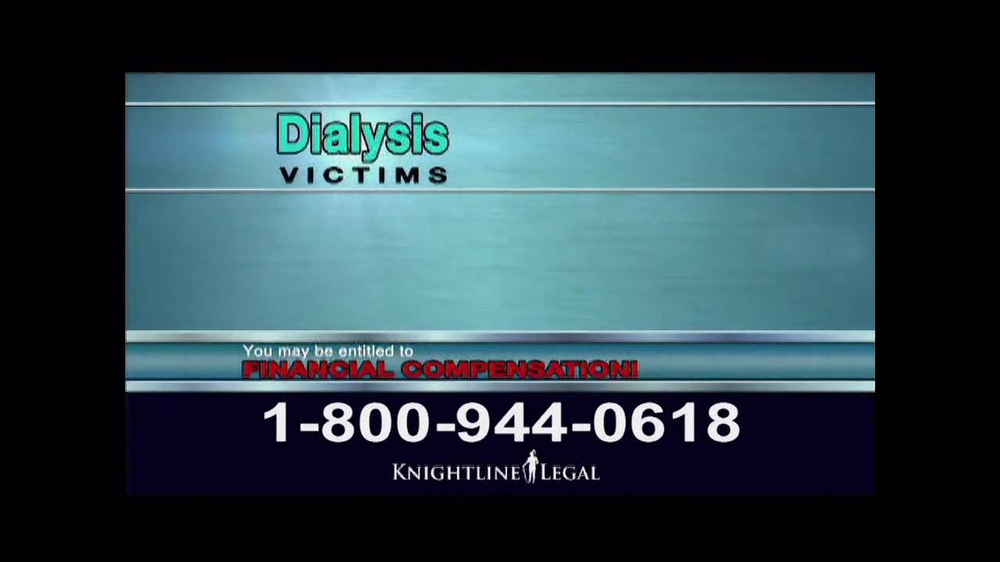 Pulaski Law Firm >> Knightline Legal TV Commercial, 'Dialysis' - iSpot.tv